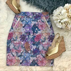 H&M high waist floral skirt